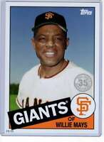 Willie Mays 2020 Topps 1985 35th Anniversary 5x7 #85-87 /49 Giants