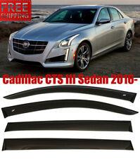 For Cadillac CTS Sedan 2016- Window Smoke Visor Rain Sun Guard Deflectors