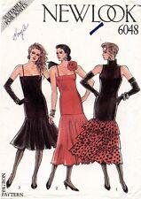 1980's VTG New Look Misses' Dress Pattern 6048 Size 8-18 UNCUT
