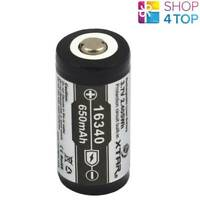 XTAR 16340 PROTECTED BATTERY RECHARGEABLE 3.7V LI-ION LITHIUM 650 mAh NEW