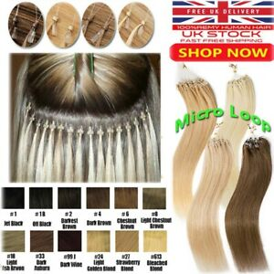 Micro Loop Nano Ring Beads/Link Remy Human Hair Extensions Pre Bonded Thick 100s