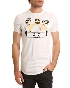 DSQUARED2 Men's White Cotton T-Shirt Double DSQUARED2 Pump - Sz XL