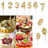1/4PCS Number Birthday Numeral Candles Cake Decor for Adults Kids Party WeddingG