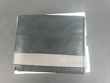 Calvin Klein Men's Leather bifold Wallet Black Grey