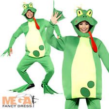 Frog Prince Adults Fancy Dress Toad Animal Fairy Tale Mens Ladies Costume Outfit