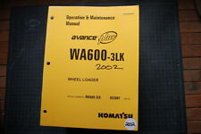 Komatsu AVANCE WA600-3LK Wheel Loader Operation/Operator Maintenance Shop Manual