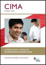 CIMA - E1 Enterprise Operations: Study Text-ExLibrary