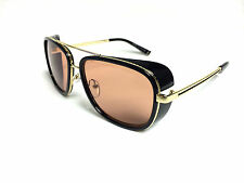 Hollywood glamour sunglasses  celebrity NEW 2015 GOLD and RED UV Metal