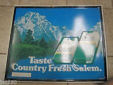 "Old SALEM CIGARETTES ""TASTE THE COUNTRY FRESH SALEM"" Advertising Sign"