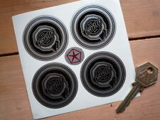 CHRYSLER Rosette Wheel Centre Stickers 50mm Set of 4 Black & Silver Viper Dodge