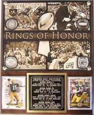 Green Bay Packers 4-Time Super Bowl Champions Rings of Honor Photo Card Plaque