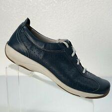 Dansko Hillary Navy Blue Leather Sneaker Walking Shoes Women's EU 42, US 11.5-12