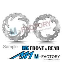 Brake Disc MX Front Rear Set Fit YAMAHA WR 450 F 03-16 06 07 08 09 10 11 12