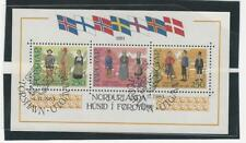 Faroe Islands, Postage Stamp, 101 Sheet Used, 1983 Flags