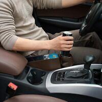 1x Car Seat Plastic Storage Box&Console Side Pocket Organizer /Cup Holder Brown