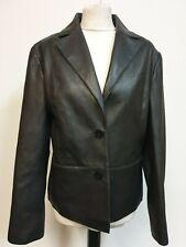 WOMENS ONADO  BLACK LEATHER LOOK PVC CASUAL COLLARED JACKET XL 14 EU 42