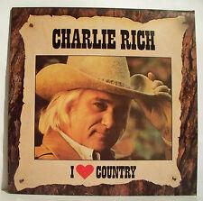 """33 tours Charlie RICH Disque Vinyl LP 12"""" I LOVE COUNTRY - CBS 54939 NM F Rèduit"""