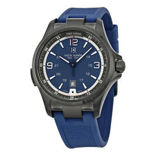 Victorinox Swiss Army 249069 Night Vision GMT blue Dial Rubber Strap Mens Watch