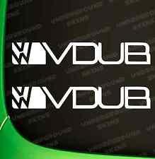 VOLKSWAGON VW V DUB X2 FUNNY CAR STICKER FUNNY EURO VINYL DECAL CADDY GOLF