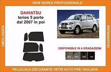 pellicola oscurante vetri dahiatsu terios 5 p dal 2007 in poi kit posteriore