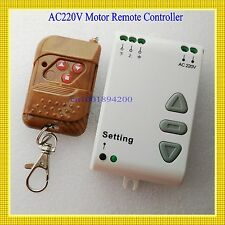 AC 220V Motor Remote Controller Motor Up Down Stop Remote Switch Motor Forward R