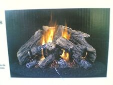 "NIB: 24"" Vented Natural-Gas Dual-Burners FIREPLACE Imitated LOGS -- 5 logs"
