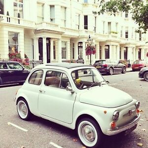 "Fiat 500/Seat 600/Austin mini cooper 12"" White Wall Portawall set of 4"