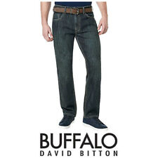 NEW Buffalo David Bitton Mens Driven-X Basic Straight Stretch Jean, 32x32 H34
