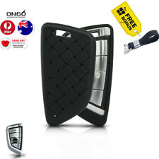 CAR  BMW remote FOB cover hand weaving for BMW SERIES 3/5//X3/x5 black gift box