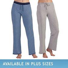 Karen Neuburger Ladies' Pajama Lounge Pants 2-Pk Blue Stripe/Grey Size S NWOT