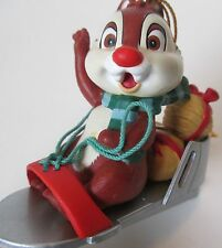 Dale Chipmunk Grolier Disney Christmas Magic in Ice Skate Sled Chip n Ornament