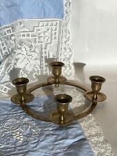 Solid Brass ADVENT WREATH Christmas Candle Holder Ring for 4 Candles