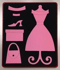 Sizzix Large Red Original Die Cutter ~ DRESS & ACCESSORIES ~ Dress Stand, Purse