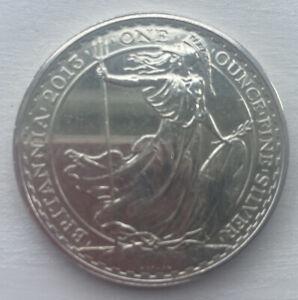 1 Oz Fine Silver 999 Britannia Coin 2 Pounds 2013