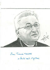Portrait original du Cardinal André VINGT-TROIS avec sa dédicace authentique