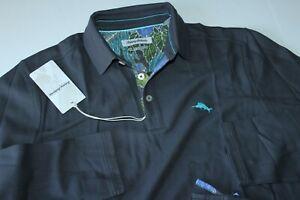 Tommy Bahama Polo Shirt 5 O'Clock Limited Edition High Seas Grey LS XX-Large XXL