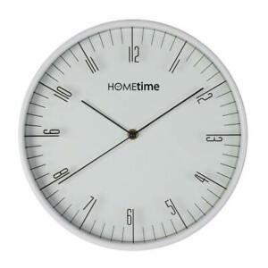 Hometime Wall Clock White Arabic Dial 30cm W7905