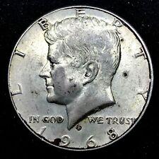 1968-D 50c  KENNEDY HALF DOLLAR MINT ERROR- MISSING FULL REVERSE- SCARES 8.5gr