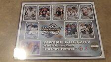 1992-93 UPPER DECK WAYNE GRETZKY HOCKEY HEROES 8 1/2 by 11 SHEET #24385