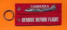 Canberra beseitige vor Flight bestickt Schlüsselanhänger / Etikett - NEU