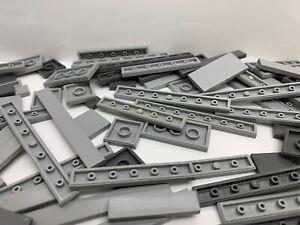 LEGO - Random Grey Flat Smooth Plate Tile Pieces / 25 Pieces Per Order