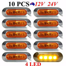 10pcs 4 SMD LED Truck Side Marker Tail Amber Light Clearance Lamp Boat Trailer