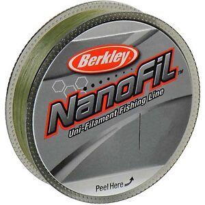Berkley Nanofil Lo Vis Green Uni-Filament Spin Fishing Line 125m & 270m