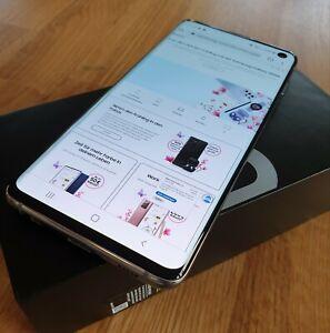 Samsung Galaxy S10 SM-G973F - 128GB - Prism White - TOP - OVP - RESTGARANTIE