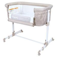 2 in 1 Anio Baby Bassinet Bedside Sleeper Brown