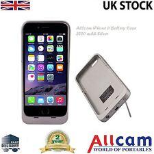 Ultra Slim 3200mAh iPhone 6 Battery Case w/ Kick Stand & Protector Film Silver