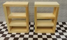 TWO GARAGE SHOP WOOD SHELVING UNFINISHED (3 1/4''H X 2 1/4''W X 1''DEEP1:24SCALE