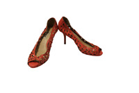 Patent Pink Leather Shoes Size 36 Ladies UK 3 Dune Cut Away Peep Toes