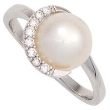 Ringe mit Perlen (16,5 mm Ø) unbehandelte natürliche echten 52