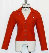 BOILED WOOL Winter SWEATER Jacket WARM German RED Women Fitted Over Coat 4 XS
